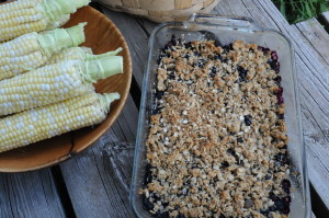 Sept 2012 blueberry crumble