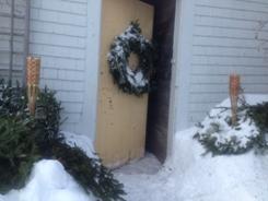 door:snow