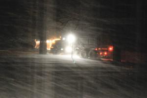 Winwter 2009 snow plow snow studies-38