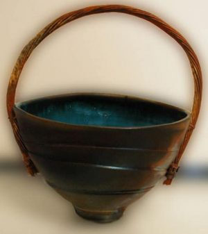 Copper Handled Basket
