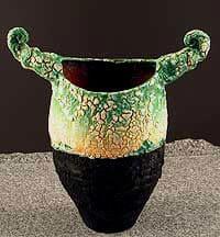 Crusty Horned Vase