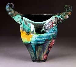 Horned Squeeze Vase 11 Inches