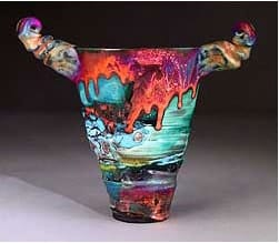 Horned Squeeze vase 9 Inches